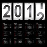Stylish calendar  for 2012. Sundays first Royalty Free Stock Images
