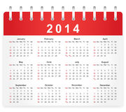 Stylish calendar page for 2014 Royalty Free Stock Image