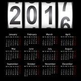 Stylish calendar for 2017. Week starts on Monday Stock Photos