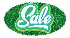 Stylish calligraphic green lettering sale on the background stock photography