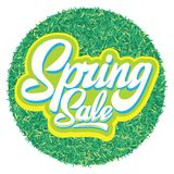 Stylish calligraphic inscription Spring Sale on the background royalty free stock image