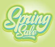 Free Stylish Calligraphic Inscription Spring Sale On The Background Royalty Free Stock Photos - 140410328