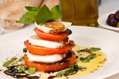Stylish Caprese Salad Stock Photos
