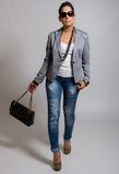 Stylish Casual Pretty Young Woman Stock Photos