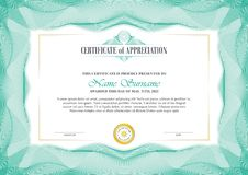 Stylish Certificate Frame with Guilloche border design royalty free stock photos