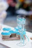 Stylish champagne glass Royalty Free Stock Photo