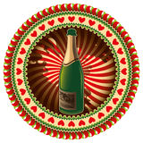 Stylish champagne label. Royalty Free Stock Image