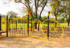 Stylish children kid playground for kindergarten and elementary Royalty Free Stock Images