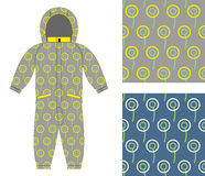 Stylish childrens clothing. Fashionable overalls for boy or girl Royalty Free Stock Image