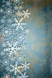 Stylish Christmas background in duo tone. Stylish Christmas background with white snowflakes snowflakes in duo tone. Abstract, elegant decorative background Royalty Free Stock Images