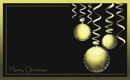 Stylish Christmas business greeting card Royalty Free Stock Images