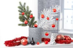 Stylish christmas decoration Royalty Free Stock Photography