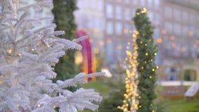 Stylish Christmas Decorations stock footage