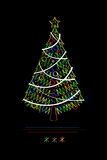 Stylish Christmas tree Royalty Free Stock Photos