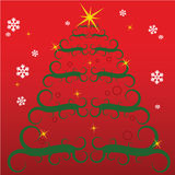 Stylish Christmas tree Stock Images