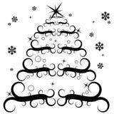 Stylish Christmas tree Stock Image