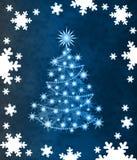 Stylish Christmas tree. Blue christmas tree for you Royalty Free Stock Photo