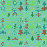Stylish christmas tree pattern Stock Photography