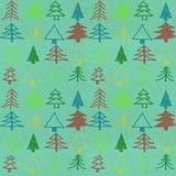 Stylish christmas tree pattern stock photography