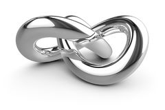Stylish chrome knot. 3d illustration of a stylish chrome knot Stock Photo