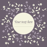 Stylish circle frame with floral bouquet Stock Image