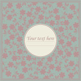 Stylish circle frame with flowers Royalty Free Stock Images