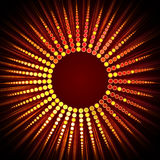 Stylish circles arranged at shape of a star Stock Images