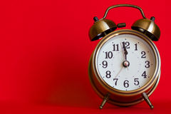 Stylish classic alarm clock Stock Photo