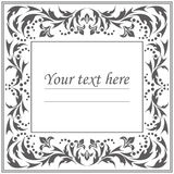Stylish classic frame with vintage ornament Royalty Free Stock Images