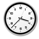 Stylish clock. Black and white stylish and modern clock, very nice and timeless pattern Royalty Free Stock Photo