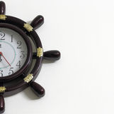 Stylish clock on wall Royalty Free Stock Image