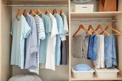 Free Stylish Clothes On Hangers Stock Image - 137522101