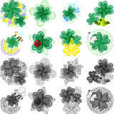 Stylish clover broach. The icons of stylish clover broach royalty free illustration