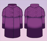 Stylish coat with gradient effect. Front and back view of a coat stock illustration