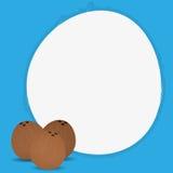 Stylish Coconut Isolated On Blue Background Stock Image