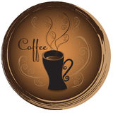 Stylish coffee cup sketched design vector icon for coffee shop o Royalty Free Stock Photos