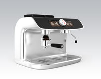 Stylish coffee machine with touch screen Royalty Free Stock Images