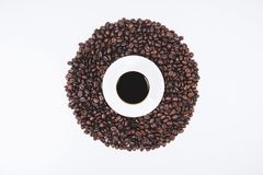 Stylish coffee wallpaper. Design, addiction, energy and lifestyle concept stock images