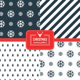 Stylish collection patterns. Set of Christmas simple retro winter seamless patterns. Stylish collection patterns Royalty Free Stock Photography