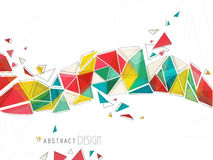 Stylish colorful abstract design. Royalty Free Stock Photography
