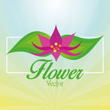 Stylish Colorful Floral Icon On Background Stock Photo