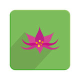 Stylish Colorful Floral Icon On Green Button Royalty Free Stock Photo