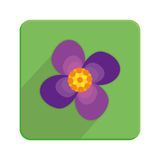 Stylish Colorful Floral Icon On Green Button Royalty Free Stock Image