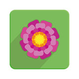 Stylish Colorful Floral Icon On Green Button Royalty Free Stock Photos