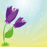 Stylish Colorful Floral Icon On Space For Text Royalty Free Stock Images