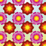 Stylish And Colorful Floral Wallpaper Background Stock Image