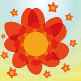 Stylish Colorful Red Flowers On Background Stock Photography