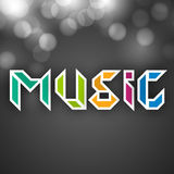 Stylish colorful text of Music. Royalty Free Stock Photography