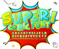 Stylish comic font in yellow, blue and green Royalty Free Stock Photography