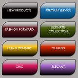 Stylish Communication Fashion Buttons Royalty Free Stock Photo